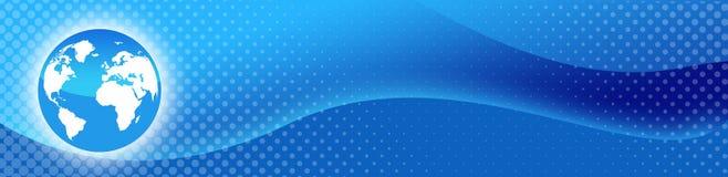 Intestazione di Web di corsa/globo del mondo Immagine Stock