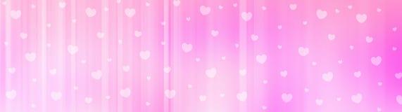 Intestazione di Web di giorno dei biglietti di S. Valentino Immagini Stock