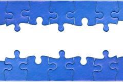 Intestazione e testo fisso inferiore del puzzle Immagine Stock