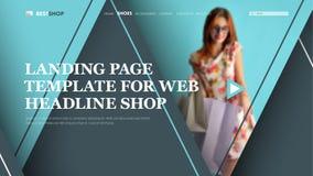 Intestazione grigio-blu del modello per il sito, con i triangoli sulle sedere royalty illustrazione gratis