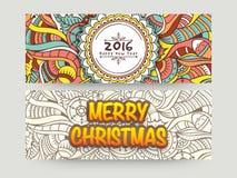 Intestazione o insegna del sito Web per il Natale ed il nuovo anno Fotografia Stock