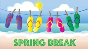 Intestazione o insegna della spiaggia di vacanza di flip-flop di estate Fotografia Stock