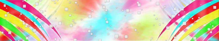 Intestazione pazza di Colorfull Immagine Stock
