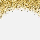 Intestazione shimmery di scintillio dell'oro Carta dell'invito o Fotografia Stock Libera da Diritti