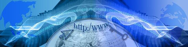 Intestazione: Tecnologia e New Horizons di individuazione Fotografia Stock