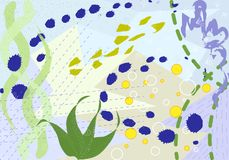 Intestazione universale creativa Progettazione grafica moderna Strutture disegnate a mano Ideale per l'invito della copertura del illustrazione vettoriale