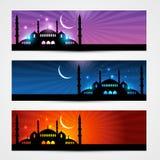 Intestazioni del eid e del Ramadan Fotografia Stock Libera da Diritti
