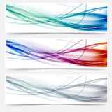 Intestazioni di Wave messe - mormori le linee di ciao-tecnologia Immagine Stock Libera da Diritti