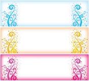 Intestazioni di Web di Swirly Fotografia Stock