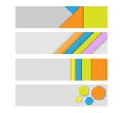 Intestazioni geometriche Fotografie Stock