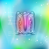 Intestinal villi background Royalty Free Stock Photos