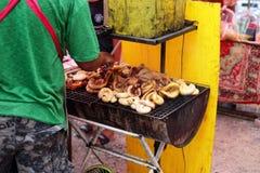 Intestino arrostito del maiale Fotografia Stock