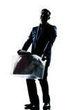 Intégral d'homme de silhouette allumé Photographie stock