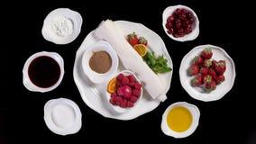 Intgridients à sobremesa Imagem de Stock Royalty Free