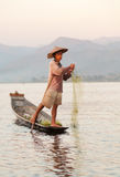 Intha Fisherman, Inle Lake, Myanmar Royalty Free Stock Images