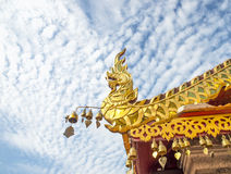 InThailand del tempio, tetto del tempio, Tailandia 2015 Immagini Stock