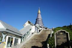Inthanon Big Pagoda. Thailand Chiangmai big pagoda at Inthanon mountain Royalty Free Stock Image