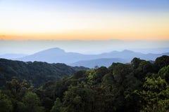 Inthanon mountains Royalty Free Stock Photos