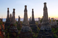 Inthein Pagoda Complex in Shan State, Myanmar Royalty Free Stock Photos