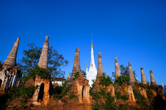 Inthein Pagoda in Shan State, Myanmar Royalty Free Stock Photo