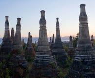 Inthein Pagoda in Shan State, Myanmar Stock Photos