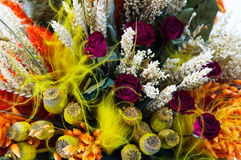 InTheMist Boquet. Colorful bouquet close up of flowers background Royalty Free Stock Image