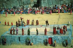 Inti Raymi, празднество Sun, Cuzco, Perù Стоковое Изображение RF
