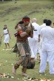 Inti Raymi beröm Arkivbild