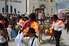Inti Raymi celebation in Alangasi, Ecuador Royalty Free Stock Images