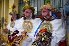 Inti Raymi celebation in Chimborazo province Royalty Free Stock Images
