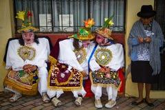 Inti Raymi celebation in Riobamba, Ecuador Stock Photo