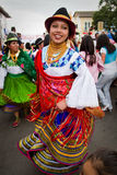 Inti Raymi celebration in Cayambe, Ecuador Stock Photo