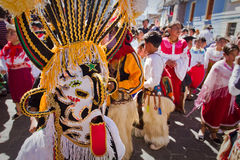 Inti Raymi celebration in Cayambe, Ecuador Royalty Free Stock Image