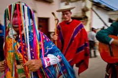 Inti Raymi celebration in Cayambe, Ecuador Royalty Free Stock Photography