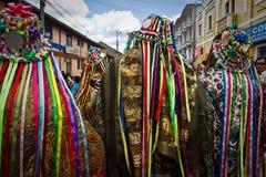 Inti Raymi celebration in Cayambe, Ecuador Royalty Free Stock Photos