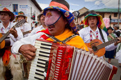 Inti Raymi celebration in Cayambe, Ecuador Stock Photography