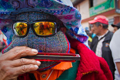 Inti Raymi celebration in Cayambe, Ecuador Stock Photos
