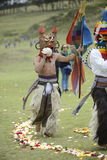 Inti Raymi celebration. The celebration of the Inti Raymi holiday, the solstice. Ecuador, June 21, 2013 Stock Photography