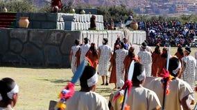 Inti Raymi Ceremony Peru South Amerika Inca Costumes stock footage