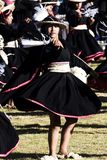 Inti Raymi Ceremony Peru South Amerika Inca Costumes Women arkivfoton