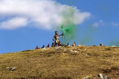 Inti Raymi Festival Cusco Peru Ámérica do Sul imagens de stock royalty free