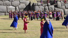Inti Raymi Festival Cusco Peru Sudamerica stock footage