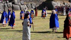 Inti Raymi Festival Cusco Peru Suramérica almacen de metraje de vídeo