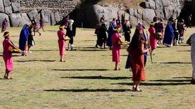 Inti Raymi Festival Cusco Peru Zuid-Amerika stock footage