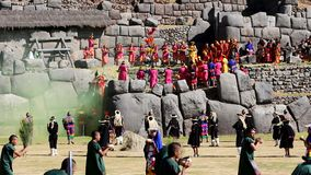 Inti Raymi Festival Cusco Peru Zuid-Amerika stock video
