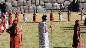 Inti Raymi Festival Cusco Peru Zuid-Amerika stock videobeelden