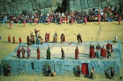 Inti Raymi, festival del Sun, Cuzco, ¹ de Perà Imagen de archivo libre de regalías