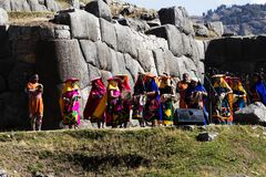 Inti Raymi festiwal Cusco Peru Ameryka Południowa Obrazy Royalty Free