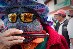 Inti Raymi solstice celebration in Cayambe Stock Images