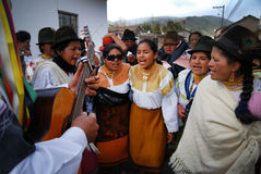 Inti Raymi solstice celebrations in Olmedo Royalty Free Stock Photos